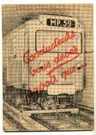 Métro Parisien RATP / Machine Rame MP59 / 1964 / Fascicule Technique / Rare !!! - Máquinas