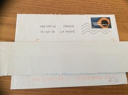Lettre Avec Oblitération Mécanique Sur Timbre « Ara Hyacinthe» - France
