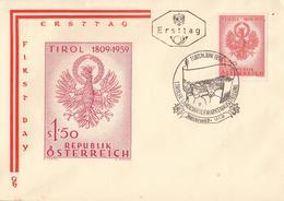 Enveloppe 1er JOUR - Austria Ersttag FDC 1959 Tirol 1809-1959 - FDC