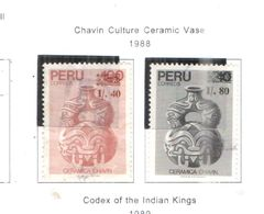 Perù PO 1988 Chavin Ceramiche Scott.947+948 Used See Scans On Scott.Pages - Peru
