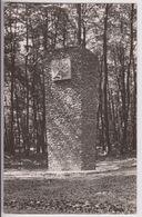 CARTE PHOTO : MONUMENT EN MEMOIRE DE L'O.R.A. ET DES FORESTIERS DE MORTEMER - LYONS LA FORET - CROIX VAUBOIS - 2 SCANS - - Lyons-la-Forêt