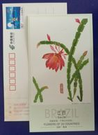 Brazil National Flower,Chrystmascactus,flowers Of 20 Countries,China 2006 G20 Hangzhou Summit Advert Pre-stamped Card - Cactusses