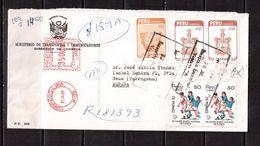 World Cup-1982, Peru, Letter, Football, Soccer, Fussball,calcio - Coppa Del Mondo