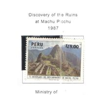 Perù PO 1987 Scoperta Machu Picchu Scott.926 Used See Scans On Scott.Pages - Peru
