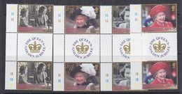 British Antarctic Territory 2002 Golden Jubilee 4v Gutter  ** Mnh (37927C) - Unused Stamps