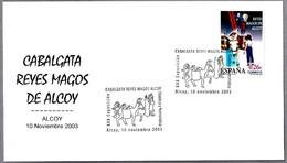 LLEGADA DE LOS REYES MAGOS -  ARRIVAL OF THE THREE WISE MEN - Burro - Donkey. Alcoy, Alicante, 2003 - Autres
