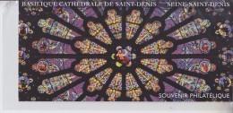 Basilique Cathédrale Saint Denis Bloc Souvenir Feuillet Gommé 2 Timbres Neufs Sous Emballage D'origine BS109 (4930 4931) - Souvenir Blocks & Sheetlets