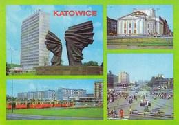 Katowice - Tram Tramway Strassenbahn, Theater - Polonia