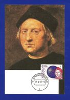 Niederlande 1992  Mi.Nr. 1441 , EUROPA  CEPT  Entdeckung Von Amerika - Maximum Card - Stempel Gravenhage 12.V.92 - Europa-CEPT
