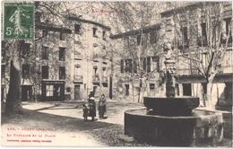 FR66 CERET - Labouche 160 - La Fontaine Et La Place - Coiffeur - Pub BYRRH TRILLES - Animée - Belle - Ceret