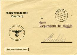 (Lo1724) Brief DR Dienst  St. Bayreuth N. Michelau Bürgermeister - Lettere