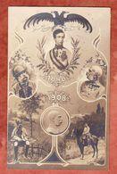 Kaiser Franz Josef, 5 Bilder, EF, Wien Nach Loosdorf 1908 (48075) - Familles Royales