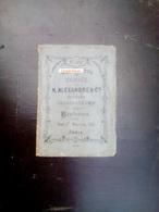 Carnet De Broderie ALEXANDRE & Cie - Abécédaires - Old Paper