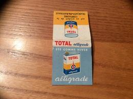 """Pochette D'allumettes * REGIE FRANCAISE """"TOTAL Altigrade"""" (huile) - Matchboxes"""