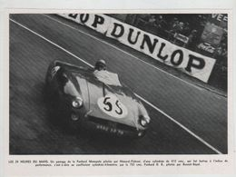 24 Heures Du Mans Panhard Monopole Hémard Flahaut Dunlop - Car Racing - F1