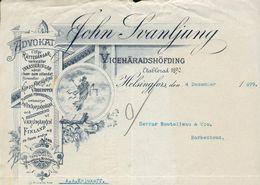Finlande - Helsingfors - Entête Du 4 Décembre 1899 - John Svanljung - VICEHÄRADSHÖFDING . - Invoices & Commercial Documents