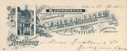 Allemagne - Stettin - Rechnung Die  23 April 1897 - Friedr.Nagel.Jnh.Paul Niekammer Verlag- Buchhandlung - Kunsthandlung - Germany