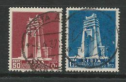 LIBIA 1937 - Strada Litoranea Libica - N.° 140 / 41 Usati - Cat. 25 € - Serie Completa - Lotto 2045 - Libia