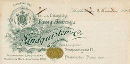 Suède - Stockholm - Entête Du 8 Novembre 1902 - Lindquister & Co - Winer & Spirituosa - Prisbelönt Paris 1900. - Invoices & Commercial Documents