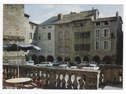 12 Villefranche De Rouergue N°441 Place Notre Dame En 1987 Peugeot 404 Citroën Ami 6 Renault R16 4L - Voitures De Tourisme