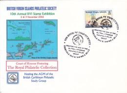 BRITISH VIRGIN ISLANDS PHILATELIC SOCIETY, 10TH ANNUAL BVI STAMP EXHIBITION-TBE-BLEUP - Vierges (Iles), Britann.