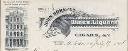 Canada - Saint John - Entête Du 17 Juillet 1893 - John Horn & Co. - Wines,Liquors. - Cigars. & C. - Canada