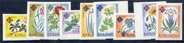 ROMANIA 1961 Botanic Gardens Centenary Imperforate MNH / **.  Michel 2020-28B - 1948-.... Republics