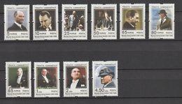 Turkey 2009, Definitives, Ataturk 10v Mnh - 1921-... República