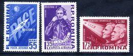 ROMANIA 1961 Second Manned Space Flight MNH / **.  Michel 1994-96 - 1948-.... Republics