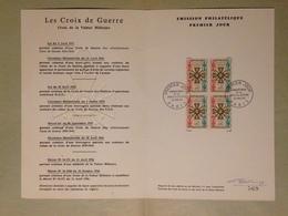 France - 1965 - 1er Jour Document Philatélique N° 569 : Croix De Guerre - France