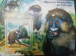 O) 2011 ANGOLA, ENDANGERED -DANGER OF EXTINCTION.  MONKEY - MACACOS - GERCOPITHECUS CEPHUS-CERCOPITHECUS ASCANIUS, SOUVE - Angola