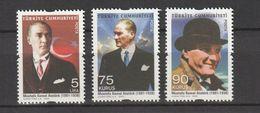 Turkey 2009, Definitives, Ataturk 3v Mnh - 1921-... República