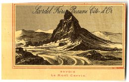 SAVOIE LE MONT CERVAIN   MAISON SCORDEL PECOT  BEAUNES  FABRIQUE DE CHAUSSURES CHEMISES GANTERIE  CHROMO VERS 1883 - Autres