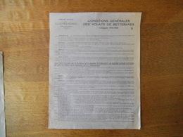 EPPEVILLE-HAM COMPAGNIE NOUVELLE DE SUCRERIES REUNIES CONDITIONS GENERALES DES ACHATS DE BETTERAVES CAMPAGNE 1934-1935 - France