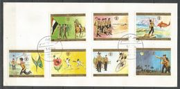YEMEN - FDC - 1980 - Scauting - Butterflies - Nature - Space - Yemen