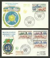 MAURITANIE / Lot 2 FDC / Admission à L'ONU 1961 & Anniversaire 1962 - UNO