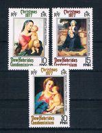 Neue Hebriden 1977 Madonna Mi.Nr. 499/501 Kpl. Satz ** - Englische Legende