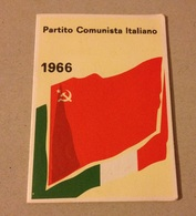 TESSERA VECCHIO PARTITO COMUNISTA 1966 - Vecchi Documenti