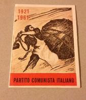 TESSERA VECCHIO PARTITO COMUNISTA 1961 - Vieux Papiers