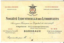 Bordeaux Cdv  Societe Industrielle Des Lubrifiants - Bordeaux