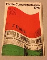 TESSERA VECCHIO PARTITO COMUNISTA 1976 - Vecchi Documenti