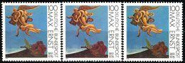 A12-16-5) BRD - 3x Michel 1569 - ** Postfrisch (B) - 100Pf      Gemälde Max Ernst - [7] République Fédérale