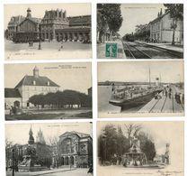 12 CP FRANCE Gare(s) Avec Train ( LE PIZOU) Ou Sans Train (PONTAILLER Sur SAÔNE) + Autres CP. LOT N°8 - Cartes Postales