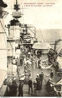 TRES RARE   Cpa 17 Rochefort, Une Visite à Bord Du Cuirassé La Gloire, Carte Pas Courante - Guerra