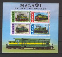 Malawi 1976 Trains MS MNH (DMS01) - Malawi (1964-...)
