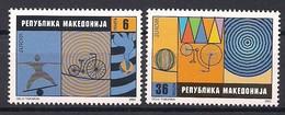 Macédoine Macedonia 2002 Yvertn° 248-249 *** MNH Cote 3,25 Euro Europa Le Cirque - Macédoine