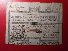 8 SCUDI CEDOLA SACRO MONTE DELLA PIETÀ DI ROMA, Anno 1792 - Vaticano