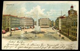SPAIN 1899. Madrid, Vintage Litho Hungarian Postcard - Madrid