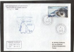 E20 -TAAF P0568 Du 7.2.2010- TERRE ADELIE - Gurvan ANDRO TA 60 - Terres Australes Et Antarctiques Françaises (TAAF)