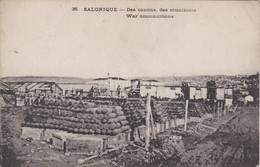 Vintage Postcard. Greece. Salonique. War Ammunitions. - Grecia